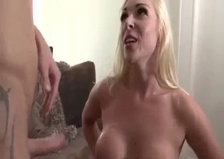 Nice cumshot for a big-boobed blonde sister