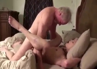 Daddy gives his small-tit daughter what she needs