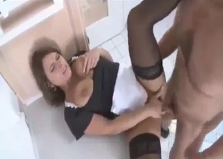 Busty auntie is trying anal sex with her nephew