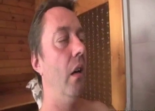 Sister and uncle have amazing sex in the bathroom
