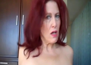 Redhead mother enjoys my cock inside her cunt