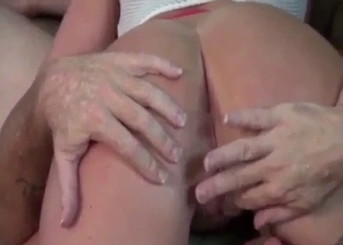 Dad and horny stepdaughter have a nice 69 action