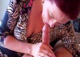 Careful mom jerks my hard prick in the bedroom